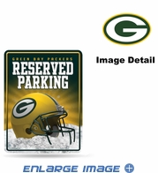 Parking Sign - Metal - Green Bay Packers - RESERVED PARKING