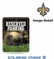 Parking Sign - Metal - New Orleans Saints - RESERVED PARKING