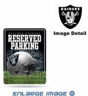 Parking Sign - Metal - Oakland Raiders - RESERVED PARKING