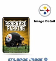 Parking Sign - Metal - Pittsburgh Steelers - RESERVED PARKING