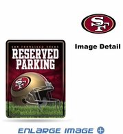 Parking Sign - Metal - San Francisco 49ers - RESERVED PARKING