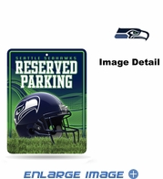 Parking Sign - Metal - Seattle Seahawks - RESERVED PARKING