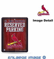 Parking Sign - Metal - St. Louis Cardinals - RESERVED PARKING