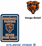 Parking Sign - Reserved Parking - Chicago Bears -