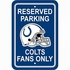 Parking Sign - Reserved Parking - Indianapolis Colts -