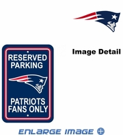 Parking Sign - Reserved Parking - New England Patriots -