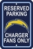 Parking Sign - Reserved Parking - San Diego Chargers -