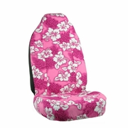 Pink Hawaiian Flower Print Seat Covers