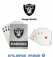 Playing Cards - Blackjack Poker - Oakland Raiders