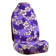 Purple Hawaiian Flower Print Seat Covers