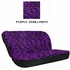 Rear Car Truck SUV Bench Seat Cover - Animal Print - Purple Zebra with Black Stripes