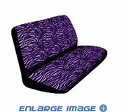 Rear Bench Seat Cover - Animal Print - Purple Zebra