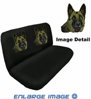 Rear Bench Seat Cover - Crystal Studded Rhinestone Bling - German Shepherd
