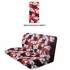 Rear Car Truck SUV Bench Seat Cover - Hawaiian Aloha - Hibiscus Flower - Burgundy Red