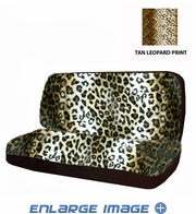 Rear Car Truck SUV Bench Seat Cover - Animal Print - Beige Tan Leopard