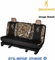 Rear Car Truck SUV Bench Seat Cover - Camouflage - Browning - Switch Back - Buckmark Camo