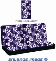 Rear Car Truck SUV Bench Seat Cover - Hawaiian Aloha - Hibiscus Flower - Purple