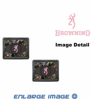 Rear Seat Utility Heavy Duty Trim-to-Fit Floor Mats - Camouflage - Browning Buckmark Logo - Pink - PAIR