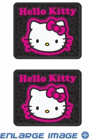 Rear Seat Utility PlastiClear Floor Mats - Car Truck SUV - Hello Kitty - Collage - PAIR