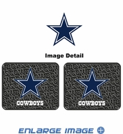 Rear Seat Utility Rubber Car Truck SUV Floor Mats - Dallas Cowboys - PAIR