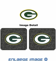 Rear Seat Utility Rubber Car Truck SUV Floor Mats - Green Bay Packers - PAIR