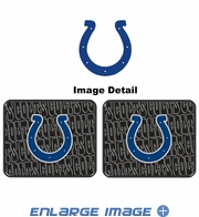Rear Seat Utility Rubber Car Truck SUV Floor Mats - Indianapolis Colts - PAIR