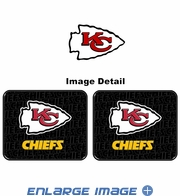 Rear Seat Utility Rubber Car Truck SUV Floor Mats - Kansas City Chiefs - PAIR