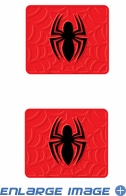 Rear Seat Utility Rubber Car Truck SUV Floor Mats - Marvel Comics - Spider-Man - PAIR