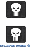 Rear Seat Utility Rubber Car Truck SUV Floor Mats - Marvel Comics - The Punisher - PAIR
