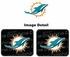Rear Seat Utility Rubber Car Truck SUV Floor Mats - Miami Dolphins - PAIR