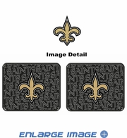 Rear Seat Utility Rubber Car Truck SUV Floor Mats - New Orleans Saints - PAIR