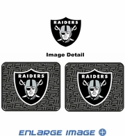 Rear Seat Utility Rubber Car Truck SUV Floor Mats - Oakland Raiders - PAIR