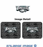 Rear Seat Utility Rubber Car Truck SUV Floor Mats - Philadelphia Eagles - PAIR