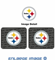Rear Seat Utility Rubber Car Truck SUV Floor Mats - Pittsburgh Steelers - PAIR
