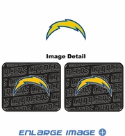 Rear Seat Utility Rubber Car Truck SUV Floor Mats - San Diego Chargers - PAIR