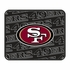 Rear Seat Utility Rubber Car Truck SUV Floor Mats - San Francisco 49ers - PAIR