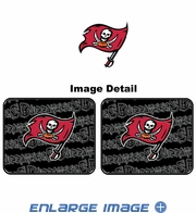 Rear Seat Utility Rubber Car Truck SUV Floor Mats - Tampa Bay Buccaneers - PAIR