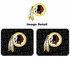 Rear Seat Utility Rubber Car Truck SUV Floor Mats - Washington Redskins - PAIR