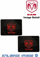Rear Seat Utility Rubber Floor Mats - Dodge Ram Logo - Pair