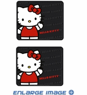 Rear Seat Utility Rubber Floor Mats - Hello Kitty Sanrio Waving - Pair