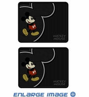 Rear Seat Utility Rubber Floor Mats - Mickey Mouse - Vintage - PAIR