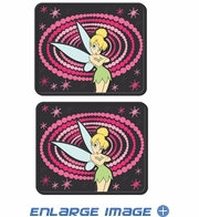Rear Seat Utility Rubber Floor Mats - Tinker Bell - Optic - PAIR