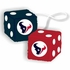 Rearview Mirror - Fuzzy Dice - Houston Texans