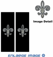 Seat Belt Shoulder Pad - Bling Crystals Studded Rhinestone - Fleur de Lis Silver French Cross - pair
