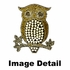 Seat Belt Shoulder Pad - Bling Crystals Studded Rhinestone - Golden Owl with Hearts - pair