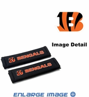 Seat Belt Shoulder Pads - Car Truck SUV - Cincinnati Bengals - PAIR