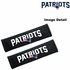 Seat Belt Shoulder Pads - Car Truck SUV - New England Patriots - PAIR