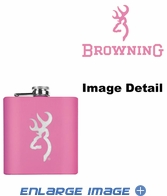 Small Flask - Stainless Steel - Browning - Pink - 6 oz