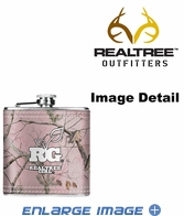 Small Flask - Stainless Steel - Realtree Outfitters - Pink Camo Girl - 6 oz