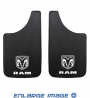 Splash Guard Mud Flap - Dodge - Ram Logo - Pair